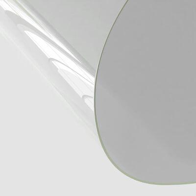 vidaXL Bordsskydd genomskinligt Ø 120 cm 2 mm PVC
