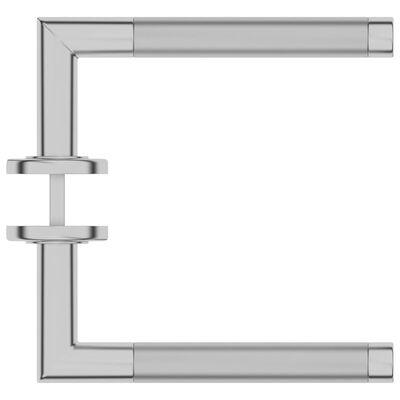 vidaXL Dörrhandtag set med BB-beslag rostfritt stål
