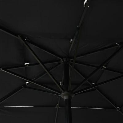 vidaXL Trädgårdsparasoll med aluminiumstång 2,5x2,5 m svart