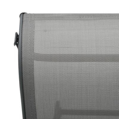 vidaXL Solsäng aluminium och textilene