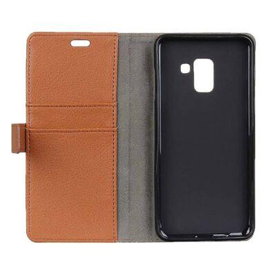 Mobilplånbok 2-kort Samsung Galaxy A8 Plus 2018 (SM-A730F) Brun