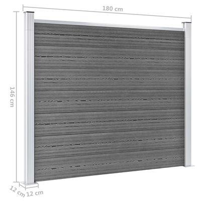 vidaXL Staketpanel WPC 180x146 cm grå