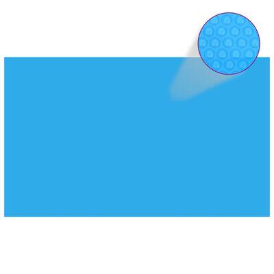 vidaXL Rektangulärt poolskydd 1000x600 cm PE blå