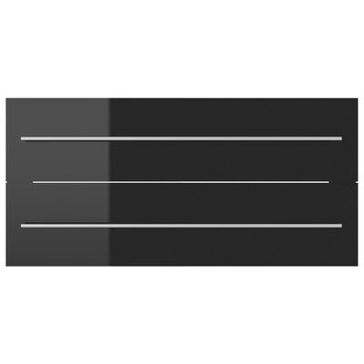 vidaXL Tvättställsskåp svart högglans 100x38,5x48 cm spånskiva