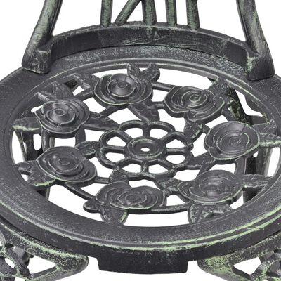 vidaXL Caféstolar 2 st gjuten aluminium grön