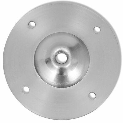 2 Teleskopiska bordsben i borstad nickel 710 mm-1100 mm