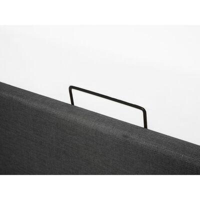 Dubbelsäng 180 x 200 cm grå DINAN