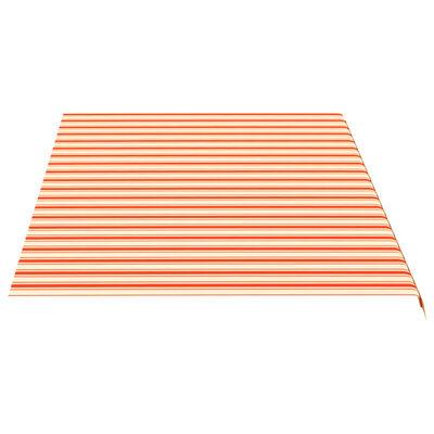vidaXL Markisväv gul och orange 5x3 m