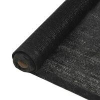 vidaXL Insynsskyddsnät HDPE 1x25 m svart 150 g/m²