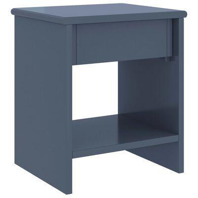 vidaXL Sängbord 2 st ljusgrå 35x30x40 cm massiv furu