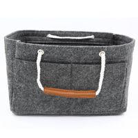 Väskinsats med handtag för handväska, Stl M - Grå