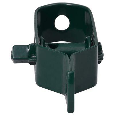 vidaXL Trådspännare 250 st 90 mm stål grön
