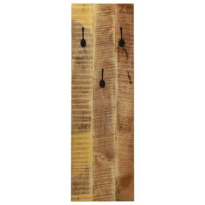 vidaXL Klädhängare väggmonterad 2 st massivt mangoträ 36x110x3 cm
