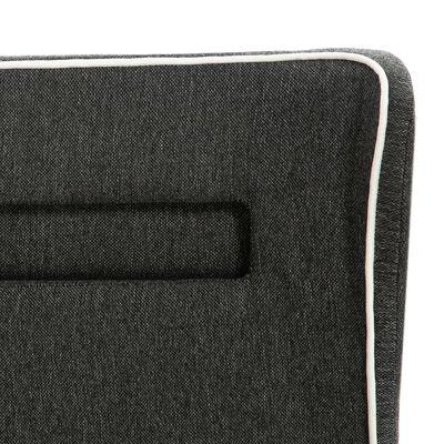 vidaXL Sängram med LED mörkgrå säckväv 120x200 cm