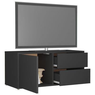 vidaXL TV-bänk grå 80x34x36 cm spånskiva
