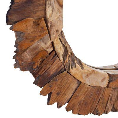 vidaXL Väggspegel rund 60 cm teak
