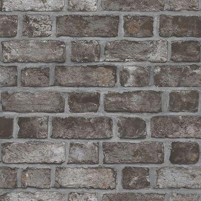 Homestyle Tapet Brick Wall svart och grå
