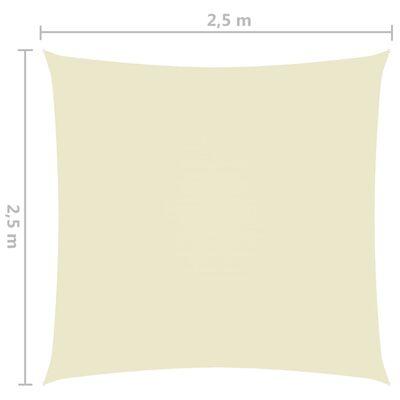 vidaXL Solsegel oxfordtyg fyrkantigt 2,5x2,5 m gräddvit
