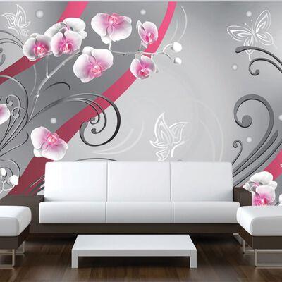 Fototapet - Pink Orchids - Variation - 100x70 Cm