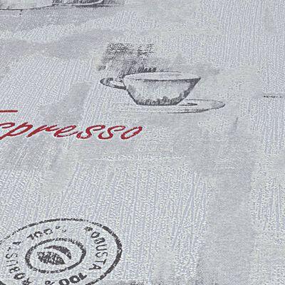 vidaXL Non-woven tapetrullar 4 st vit 0,53x10 m kaffe