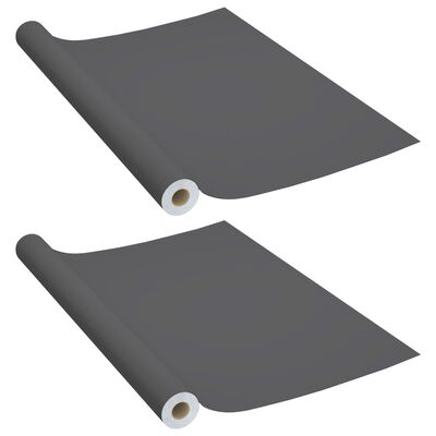 vidaXL Dekorplast 2 st grå 500x90 cm PVC