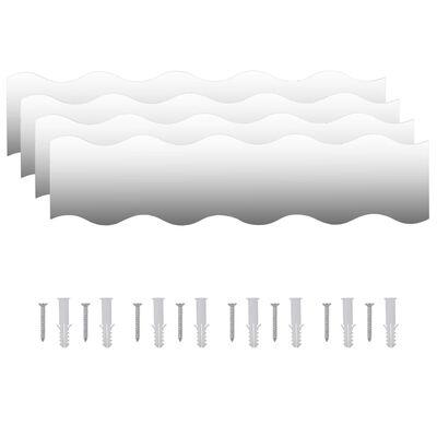 vidaXL Väggspeglar 4 st 110x23 cm vågformade