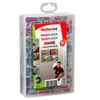 Fischer Skruvar med plugg PROFI-BOX DUOPOWER 160 delar