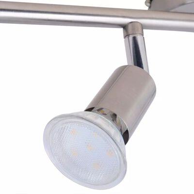 vidaXL Taklampa med 4 LED Strålkastare Satin Nickel