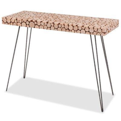 vidaXL Konsolbord äkta granträ 100,5x36,8x75 cm