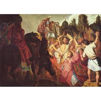 The Martyrdom of St.Stephen,Rembrandt,60x43cm