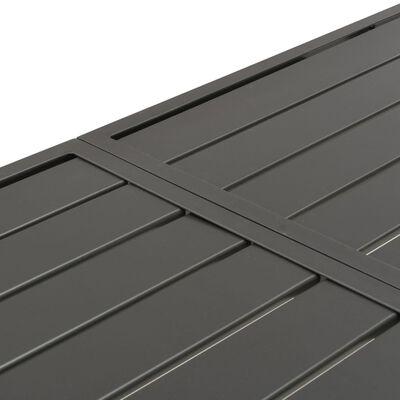 vidaXL Trädgårdsbord mörkgrå 180x83x72 cm stål