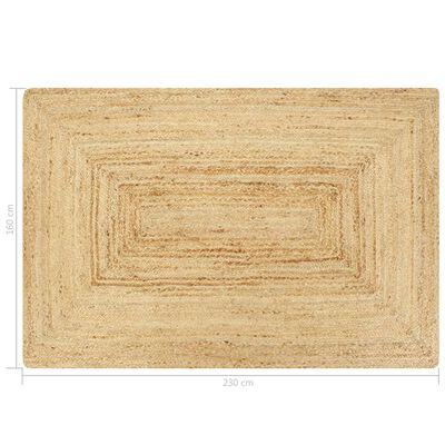 vidaXL Handgjord jutematta naturlig 160x230 cm