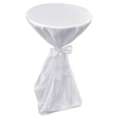Vit bordsduk med rosett 80 cm 2-pack