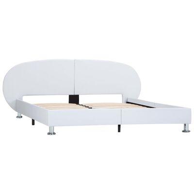 vidaXL Sängram vit konstläder 140x200 cm