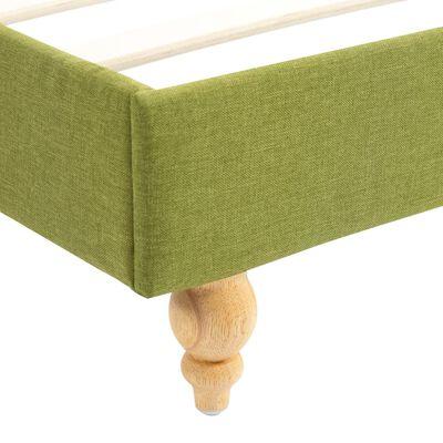 vidaXL Säng med LED och madrass grön tyg 140x200 cm