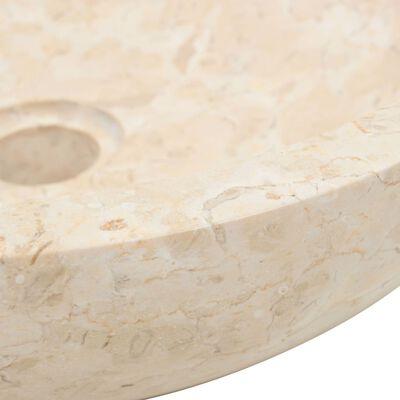 vidaXL Badrumsunderskåp massiv teak med handfat marmor gräddvit