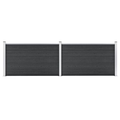 vidaXL Staketpanel WPC 353x106 cm grå