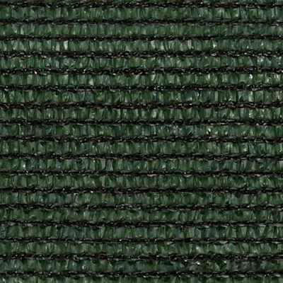 vidaXL Solsegel 160 g/m² mörkgrön 3,5x3,5x4,9 m HDPE