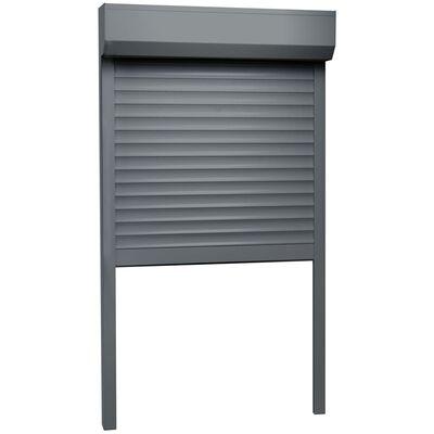 vidaXL Rulljalusi aluminium 100x210 cm antracit