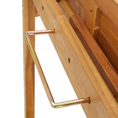 vidaXL Balkongbar 3 delar massivt akaciaträ
