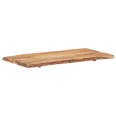 vidaXL Bordsskiva massivt akaciaträ 120x(50-60)x3,8 cm