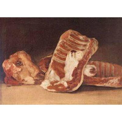 Still Life with Sheep's Head,Francisco de Goya,45x62cm