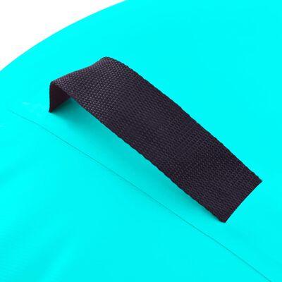 vidaXL Uppblåsbar gymnastikrulle med pump 120x90 cm PVC grön