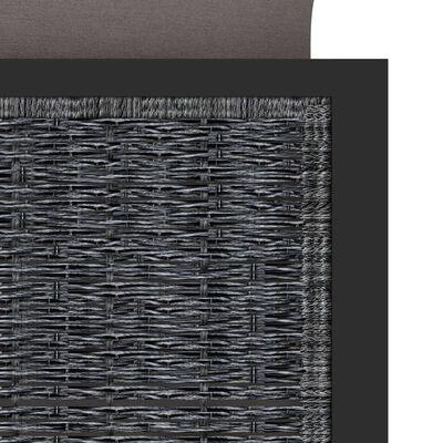 vidaXL Hörnsits till modulsoffa med höger armstöd konstrotting antracit