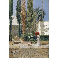 Garden of Fortuny's House,Mariano Fortuny,60x40cm