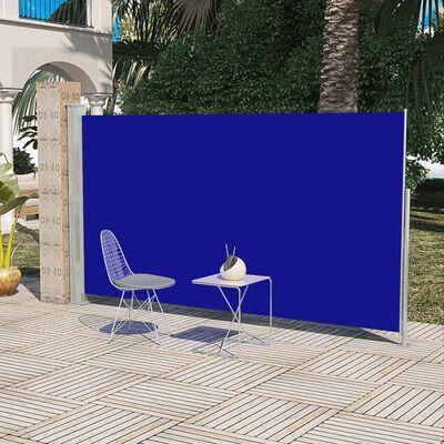 vidaXL Sidomarkis för uteplats 160 x 300 cm blå