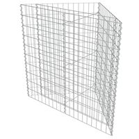 vidaXL Planteringsgabion upphöjd galvaniserat stål 75x75x50 cm