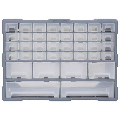 vidaXL Sortimentskåp med 40 lådor 52x16x37,5 cm