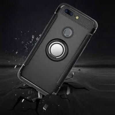 OnePlus 5 Praktisk Stöttåligt Skal med Ringhållare V2