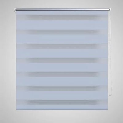 Rullgardin randig vit 120 x 230 cm transparent
